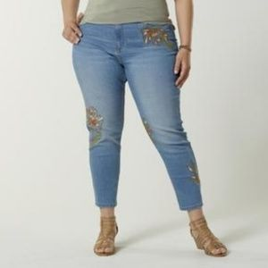 Simply Emma Floral Embroidered Jean's